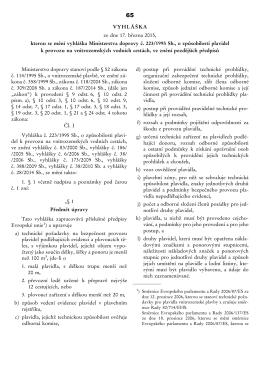 Vyhláška 65/2015 Sb. Ministerstva dopravy
