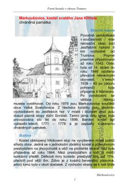 Markoušovice, kostel svatého Jana Křtitele
