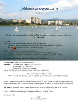 Jablonecká regata 2015