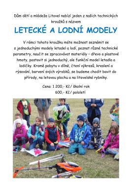 Letečtí a lodní modeláři - Dům dětí a mládeže Litovel