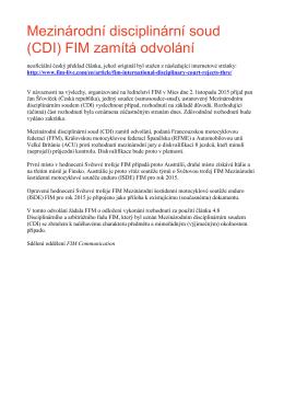 ISDE 2015 - rozhodnutí FIM o odvolání ke konečným výsledků…