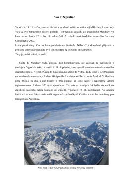 Reportáž z Argentiny/Chile 2003