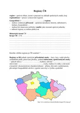 Regiony cr