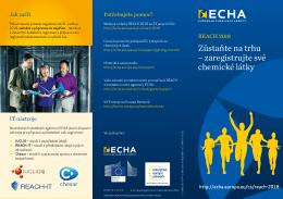 Zůstaňte na trhu – zaregistrujte své chemické látky - ECHA