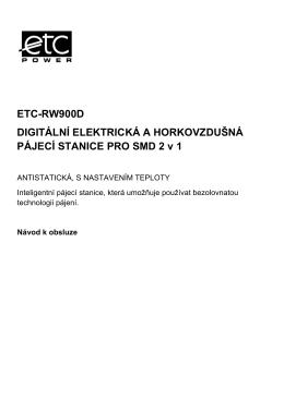 ETC-RW900D DIGITÁLNÍ ELEKTRICKÁ A HORKOVZDUŠNÁ