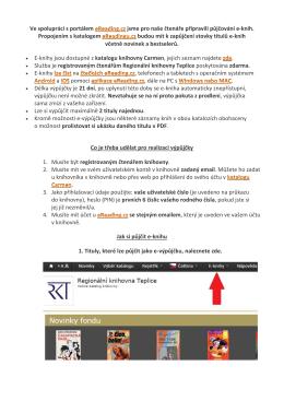 Půjčování e-knih v katalogu Carmen