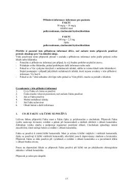 Príbalová informace (Vlastnosti a použití)