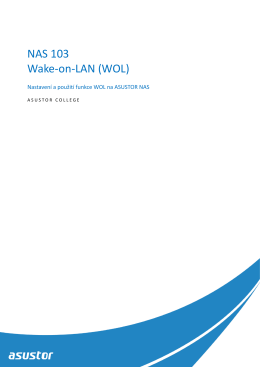 NAS 103 Wake-on-LAN (WOL)