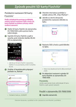 Způsob použití SD karty