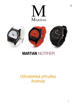Používání hodinek Martian Notifier