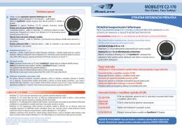 MOBILEYE C2-170 - HALE, spol. s ro