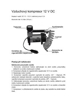 Vzduchový kompresor 12 V DC