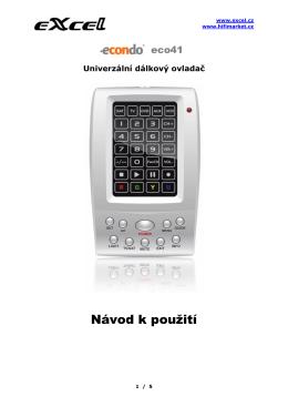 Univerzální dálkový ovladač eCondo eco48 - Hi