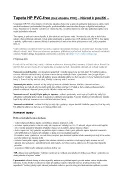 Tapeta HP PVC-free (bez obsahu PVC)