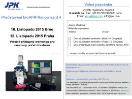 Představení BioAFM Nanowizard 4