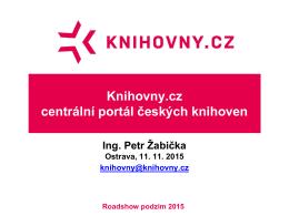 Knihovny.cz centrální portál českých knihoven