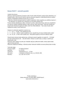 Kemo FG017 – návod k použití - Santec