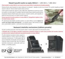 Návod k použití nosiče na vazbu MOLLE | UBC-04-1 / UBC-04