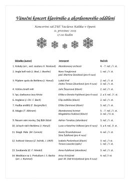 Vánoční koncert klavírního a akordeonového oddělení
