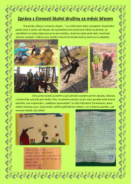 Zpráva z činnosti školní družiny za měsíc březen