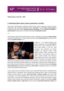 Tisková zpráva MHF ČK 2015_2. festivalový víkend
