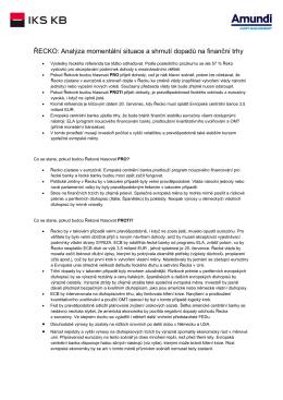 ŘECKO: Analýza momentální situace a shrnutí dopadů na finanční trhy