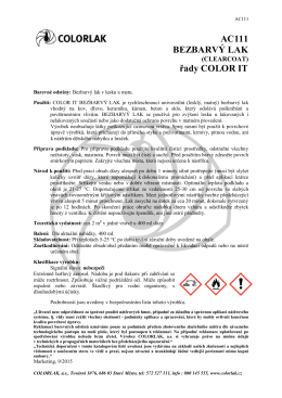 katalogový list - Colorlak, a.s.