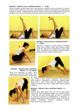 Strečink - lýtkové svaly a Achillova šlacha - 1.