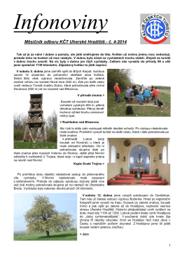 Měsíčník odboru KČT Uherské Hradiště.- č. 4-2014