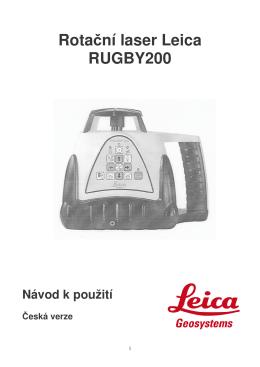 Rotační laser Leica RUGBY200