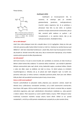 Azathioprin - MyastheniaGravis.cz