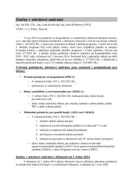 Změny v nitrátové směrnici