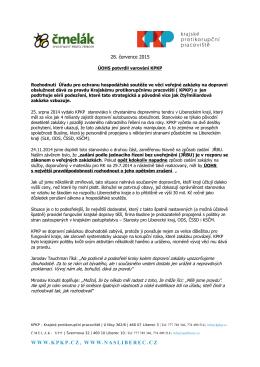 ÚHOS potvrdil varování KPKP - Krajské protikorupční pracoviště