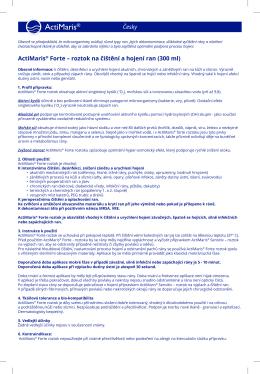 Česky ActiMaris® Forte – roztok na čištění a hojení ran (300 ml)