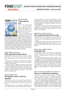 Newsletter FOND SHOP 19-2015