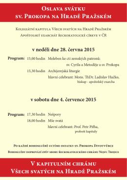 Plakát - Apoštolský exarchát