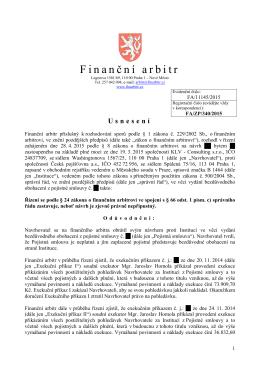 Usnesení o zastavení řízení ze dne 4. 11. 2015 vydané pod
