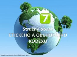 Etický kodex - Severní energetická as