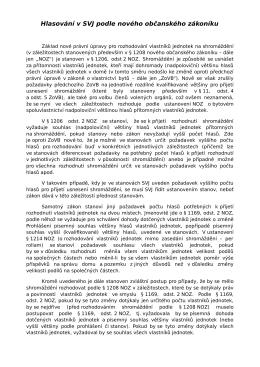Hlasování v SVJ podle nového občanského zákoníku
