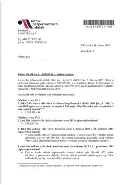č.j. ABS 2329/2015 R - Archiv bezpečnostních složek