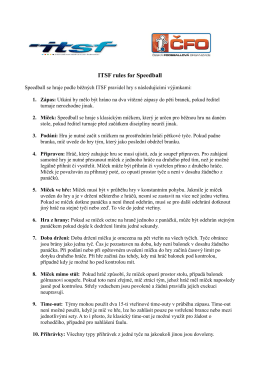 ITSF rules for Speedball