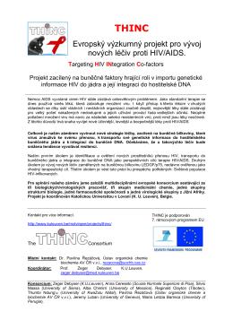 Evropský výzkumný projekt pro vývoj nových léčiv proti