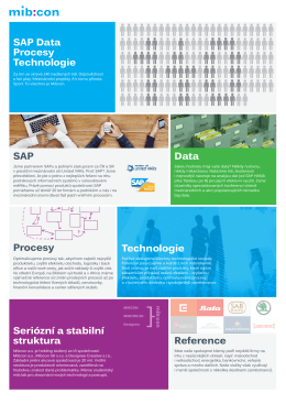 SAP SAP Data Procesy Technologie Procesy Data