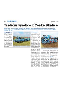 Tradiční výrobce z České Skalice