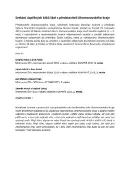 Tisková zpráva - Střední škola stavebních řemesel Brno