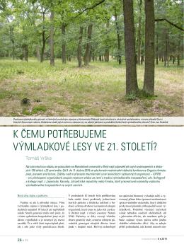 K čemu potřebujeme výmladKové lesy ve 21. století?