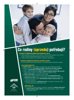 Co rodiny (opravdu) potřebují?