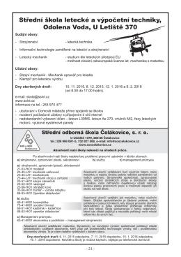 SOŠ Čelákovice, s.r.o., U Učiliště 1379, 250 88 Čelákovice