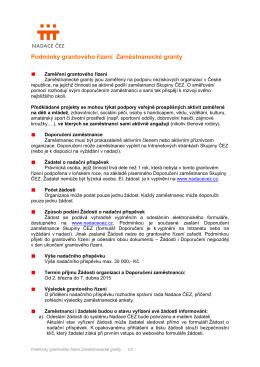 Nadace ČEZ vyhlašuje grantové řízení Podpora regionů pro rok 2010