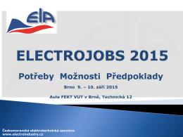 electrojobs 2015 - Českomoravská elektrotechnická asociace